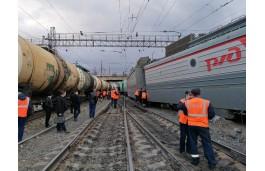 На станции «Златоуст» произошел очередной сход поезда